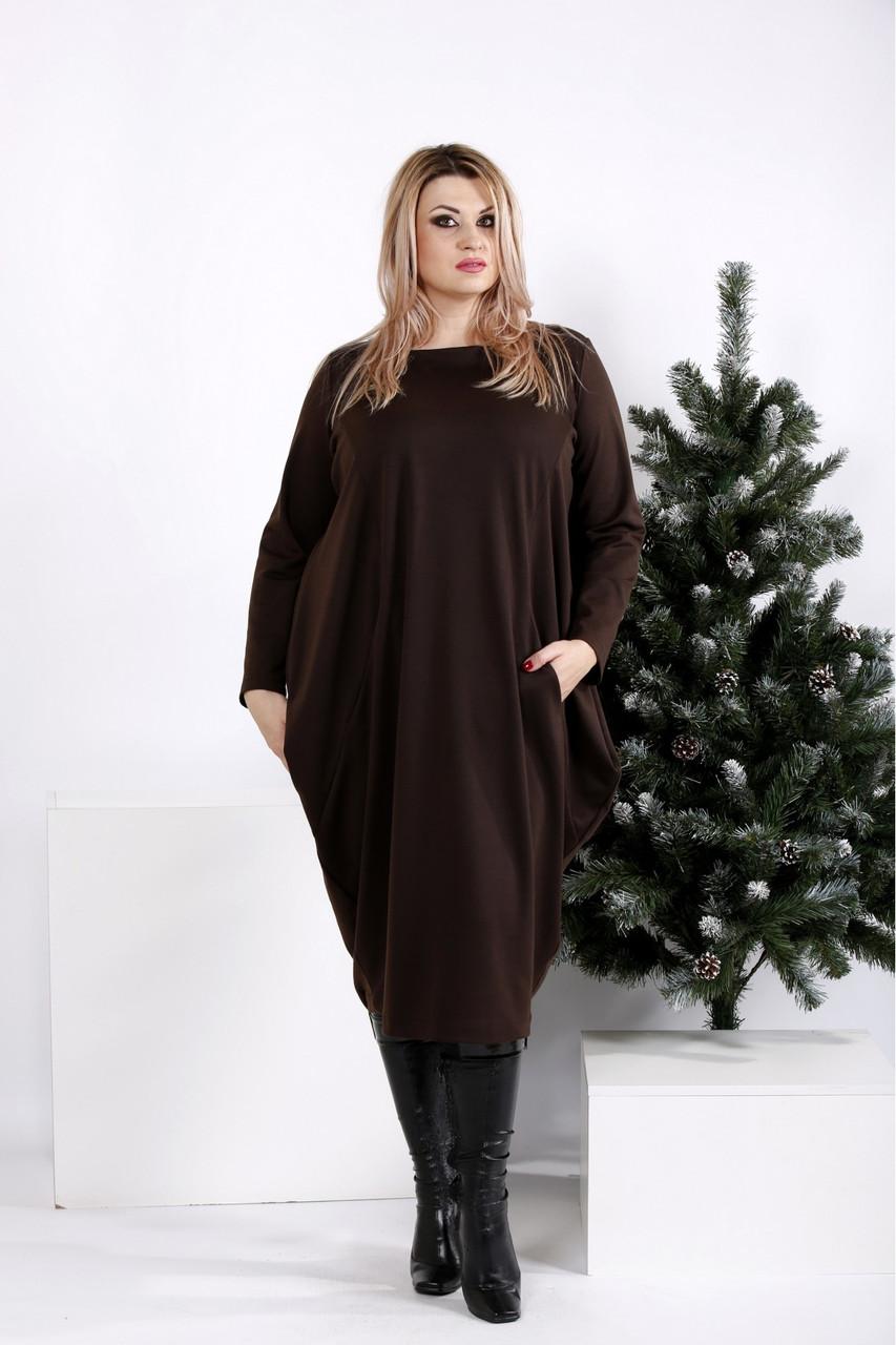 Жіноче об'ємне трикотажне плаття розміри:42-74