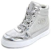 Ботинки сникерсы серебристые 06-29-00433, р. 25 - 30