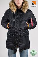 Зимняя мужская парка Olymp 2018 — Аляска N-3B, Slim Fit, Черная — 100% Нейлон