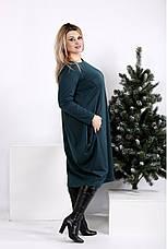 Женское объемное трикотажное платье размеры:42-74, фото 3