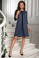 Красивое платье с ангоры люрикс с рукавом 3/4, фото 1