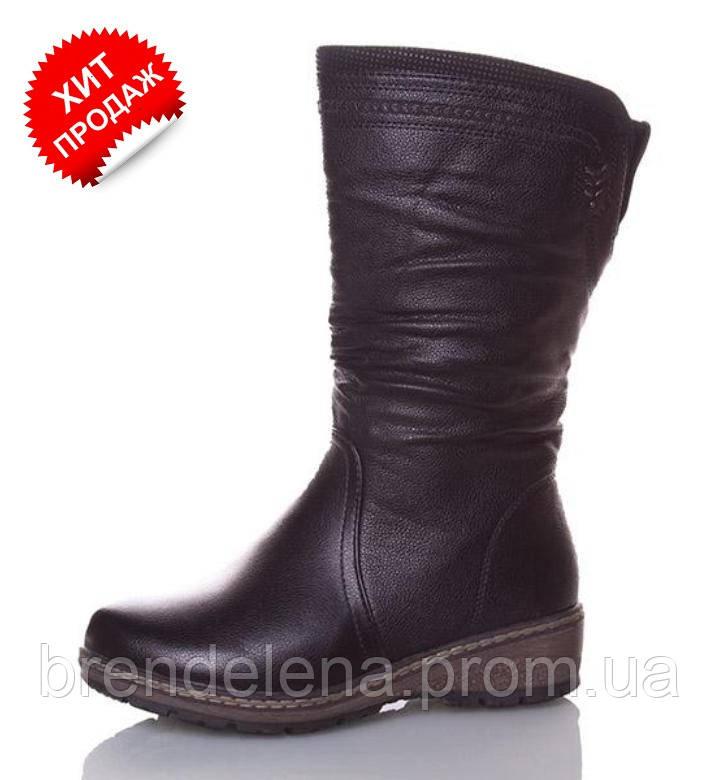 Модні жіночі чорні чобітки (р37-41)