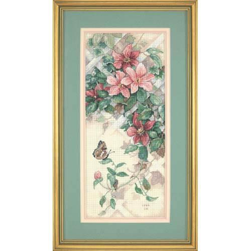 Набор для вышивки крестом Dimensions 13686 «Бабочки и клематисы»