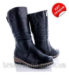 Модні жіночі чорні чобітки (р37)