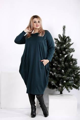 Женское объемное трикотажное платье размеры:42-74, фото 2