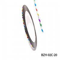 Лента для декора ногтей, цветные полоски, № 20