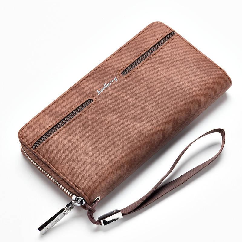 Мужской кошелек, портмоне Baellerry Denim Model 2 коричневый