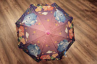Детский зонт трость полуавтомат со свистком и рисунком героев мультсериала  Фиксики