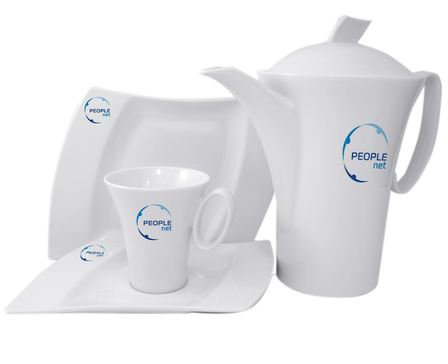 Чайный сервиз конусный 4 предмета