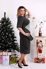 Элегантное женское платье демисезонное размеры:42-74, фото 2