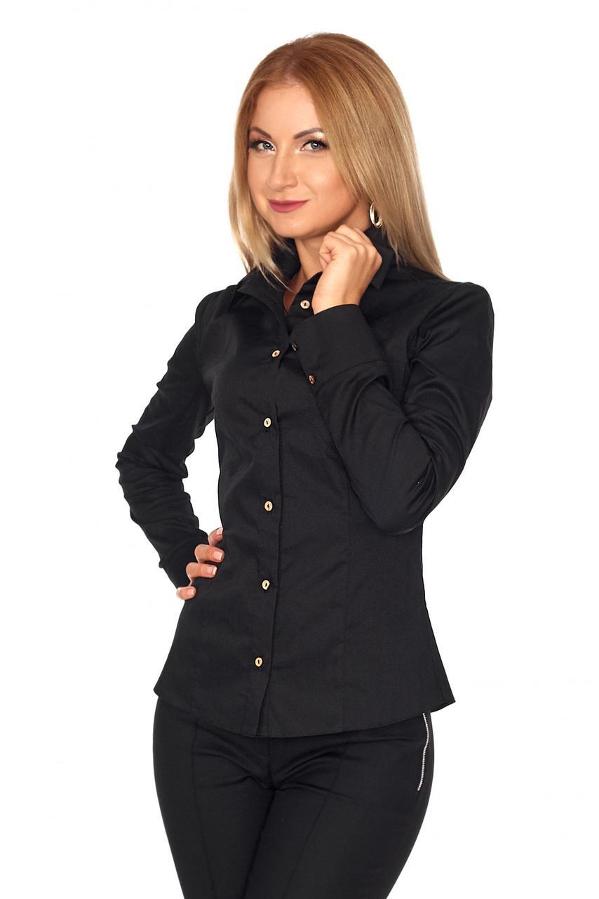 Стильная строгая   рубашка для девушек  42-48