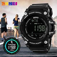 Skmei 1227 черные мужские спортивные смарт часы, фото 1