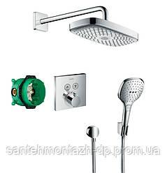Raindance Select E/ShowerSelect Душевой набор (верхний, ручной душ, ibox, термостат)