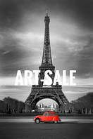 Картина Париж Черно Белая Холст