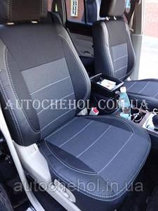 Автомобильные чехлы на Mitshubisha Pajero Wagon 2010, серая нить, чехлы на паджеро вагон, Premium
