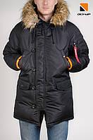 """""""Аляска N-3B Old School,  Slim Fit, Color: Black.  100% Нейлон"""""""