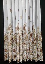 Готовая тюль Батик Цветы Коричневые   , фото 2
