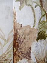 Готовая тюль Батик Цветы Коричневые   , фото 3