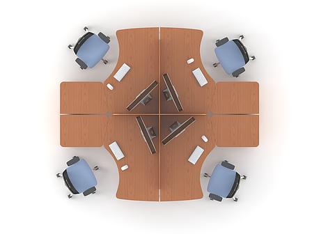 Комплект мебели для персонала серии Техно плюс композиция №3 ТМ MConcept, фото 2