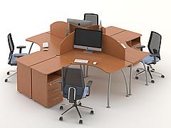 Комплект мебели для персонала серии Техно плюс композиция №3 ТМ MConcept