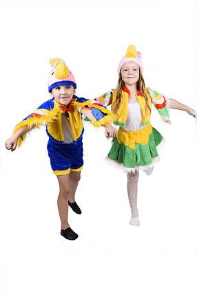"""Детский карнавальный меховой костюм """"Попугай"""" для девочки, фото 2"""