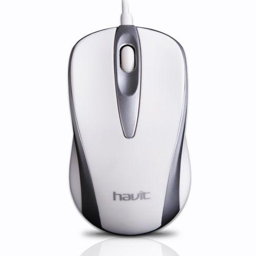 USB проводная оптическая мышка Havit HVMS675 White