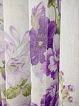 Готовая тюль Батик Цветы Сиреневые , фото 2