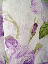 Готовая тюль Батик Цветы Сиреневые , фото 3