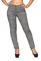 Модные зауженные  брюки в клетку  42-52