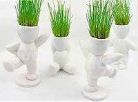 Трав'янчик керамічний одинарний білий (різні фігурки) / Травянчик керамический одинарный белый, фото 1