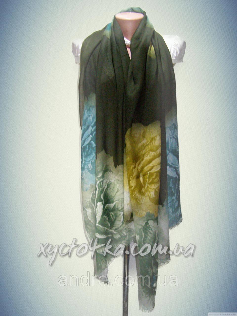 Турецкие шарфы палантины Натюрморт, зелёный