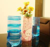 Ваза для квітів складна, поліетиленова / Ваза для цветов складная, полиэтиленовая, 15х27 см