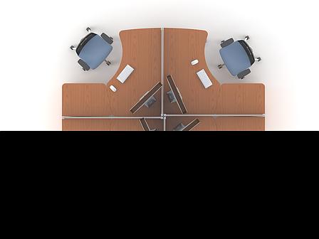 Комплект мебели для персонала серии Техно плюс композиция №4 ТМ MConcept, фото 2