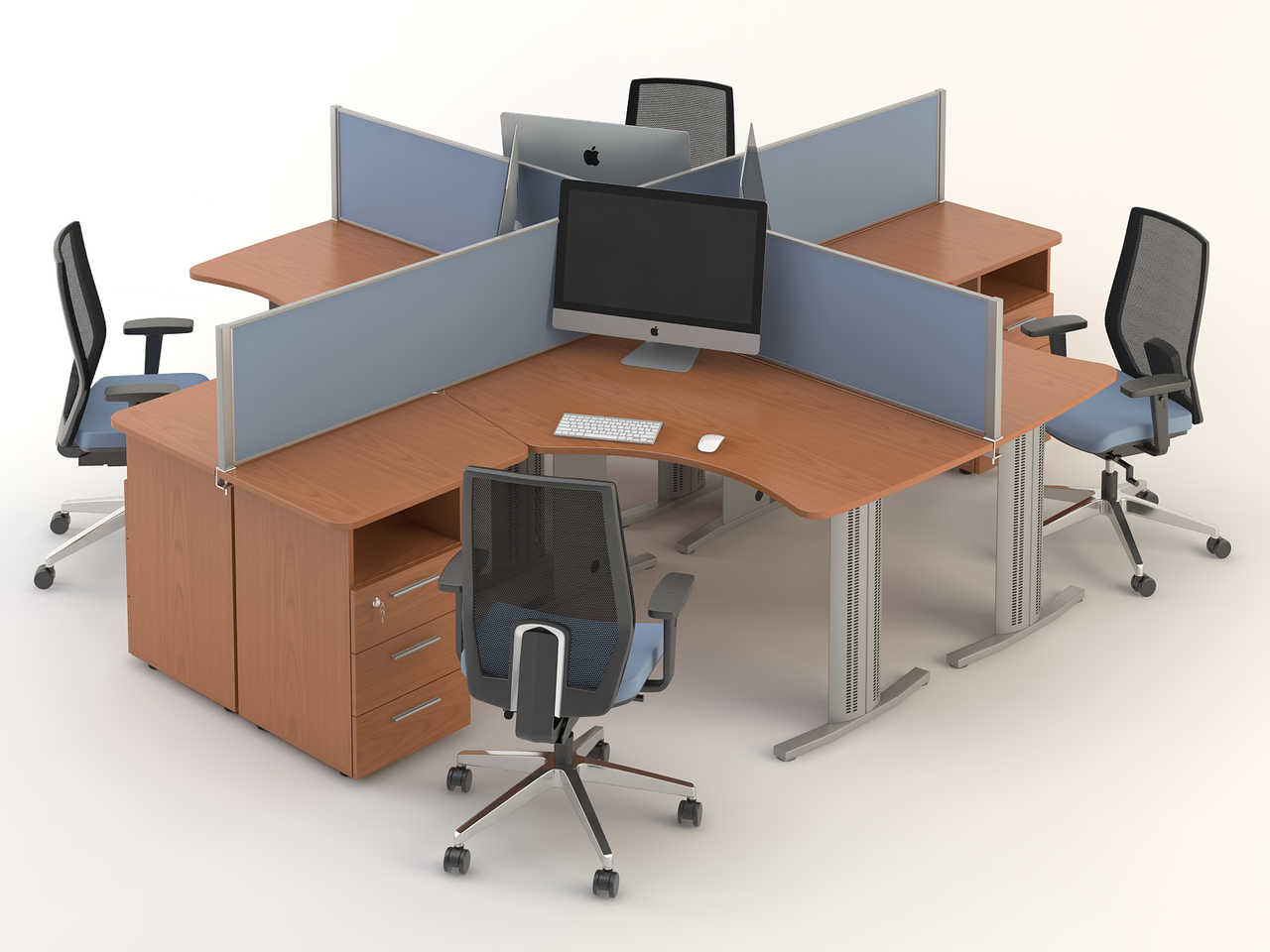 Комплект мебели для персонала серии Техно плюс композиция №4 ТМ MConcept