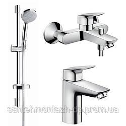 Logis Набор смесителей для ванны (71100000+71400000+27772000)