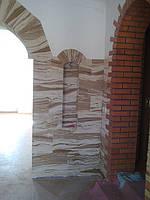 Гибкий камень-отделка колонн под песчанник