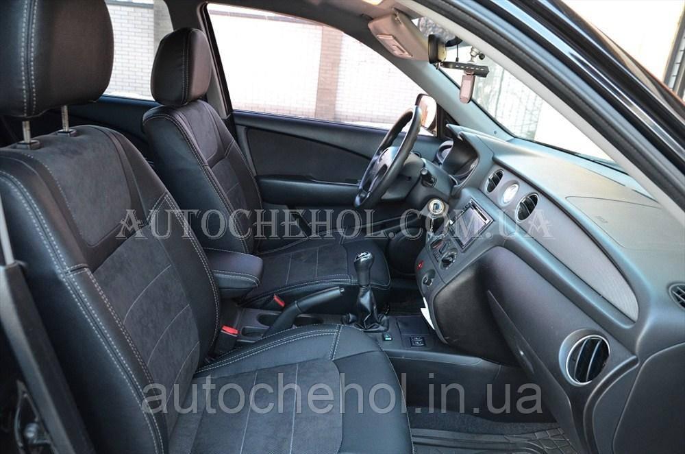 Авточехлы из алькантары и арпатеки на сиденья Mitsubishi Outlander 2001, Leather StyLe, MW BROTHERS