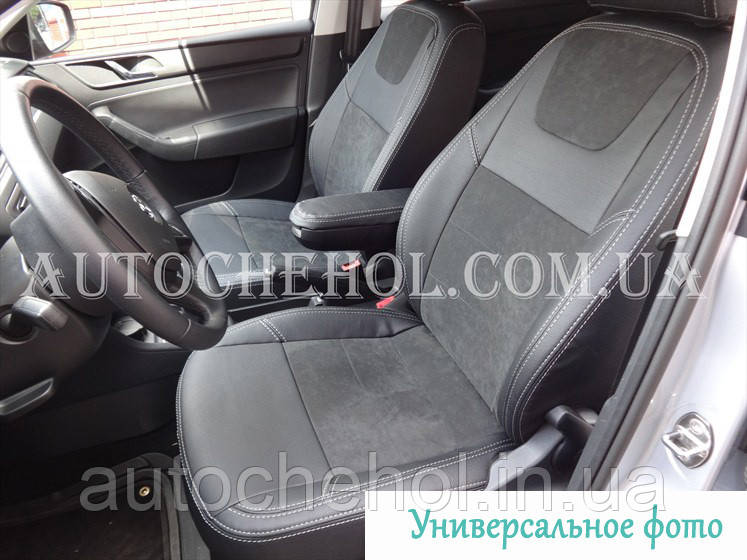 Авточехлы из алькантары и арпатеки на сиденья Mitsubishi Pajero Sport 1998 - 2008, Leather StyLe, MW BROTHERS