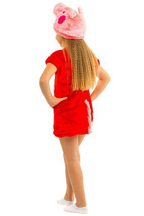 """Детский карнавальный меховой костюм """"Свинка Пеппа"""" для девочки, фото 2"""