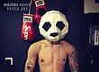 Маска панды из картона, ручная сборка. Голова панды бумажная для взрослых, фото 3