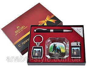 Подарочный набор Дикий Медведь  ручка/брелок/зажигалка/пепельница №YJ-6284 Код 120293