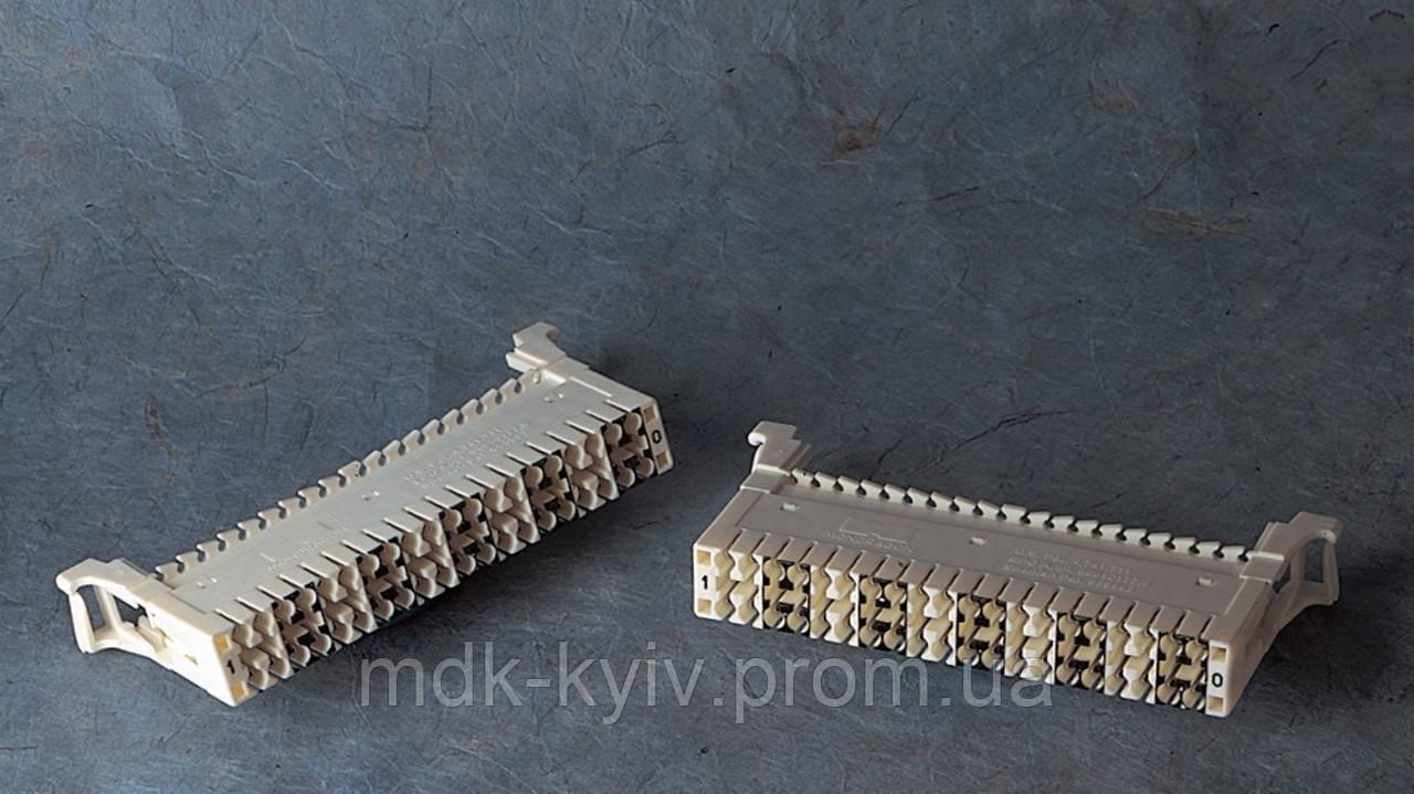 Плинт QDF-E1P-F, гелезаполненный, с нормально-замкнутыми контактами, маркировка 1...0, Tyco