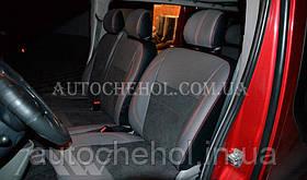 Авточехлы из алькантары и арпатеки на сиденья Renault Traffic, комплект, Leather StyLe, MW BROTHERS