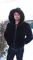 Мужская куртка из плюшевой нутрии с капюшоном