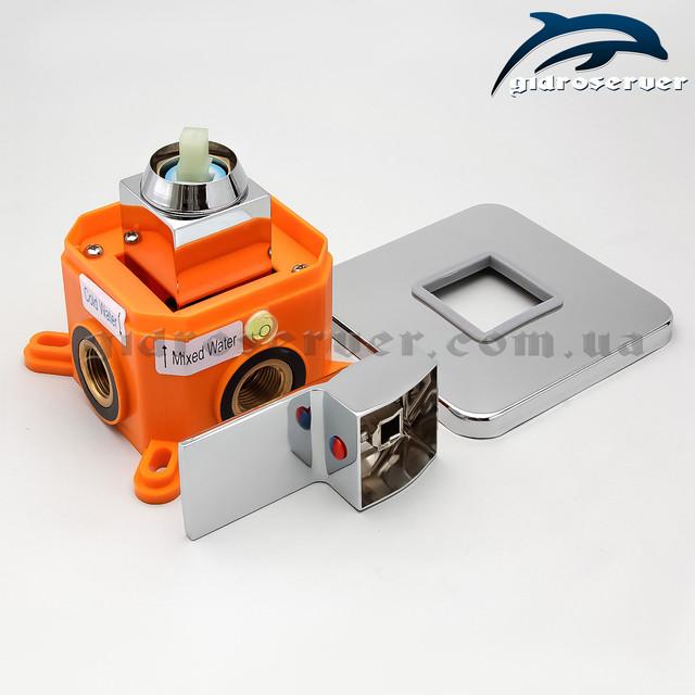 Смеситель для душевой системы скрытого монтажа KVB-01 с термопластовой монтажной коробкой.