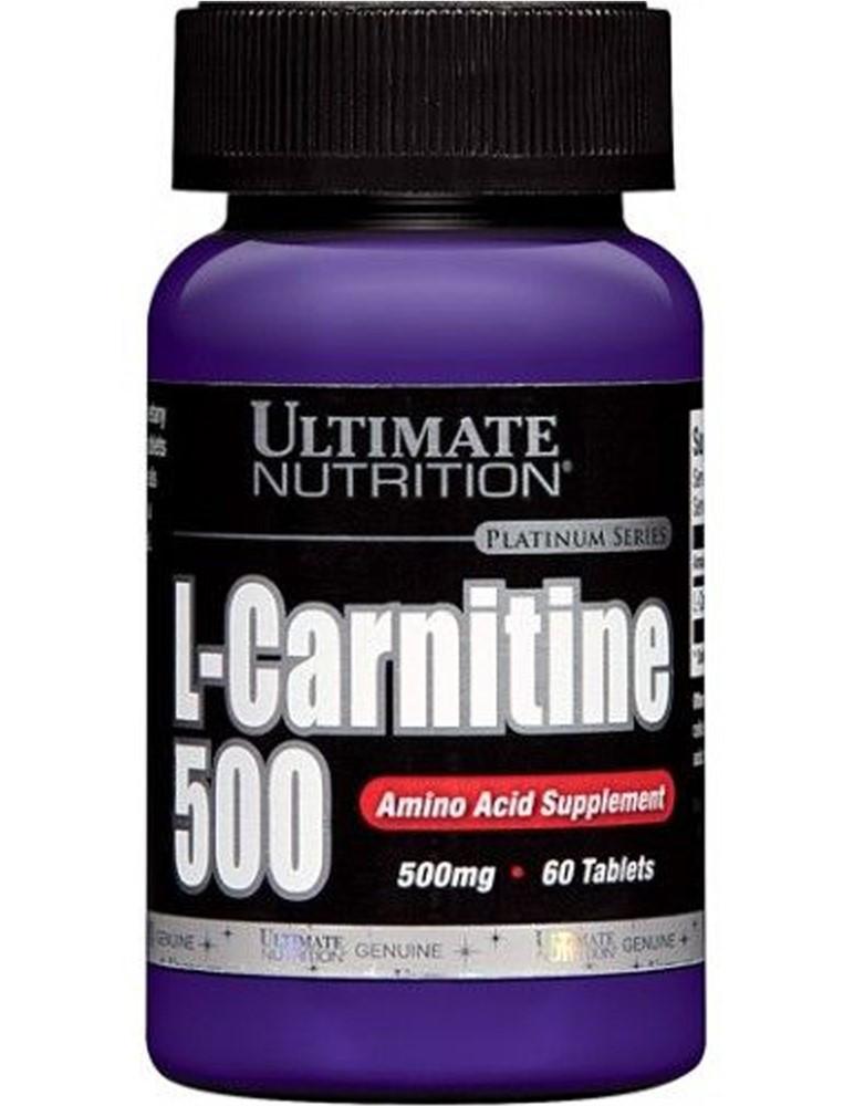 Жиросжигатель Ultimate Nutrition L-Carnitine 500 mg 60 tabs, Ультимат Л-Карнитин 500 мг 60 таб