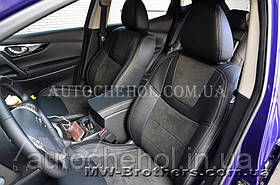 Авточехлы из алькантары и арпатеки на сиденья Toyota RAV 4 2016 Гибрид, Leather StyLe, MW BROTHERS