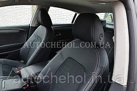 Авточехлы из алькантары и арпатеки на сиденья Volkswagen Passat CC, Leather StyLe, цельная спинка
