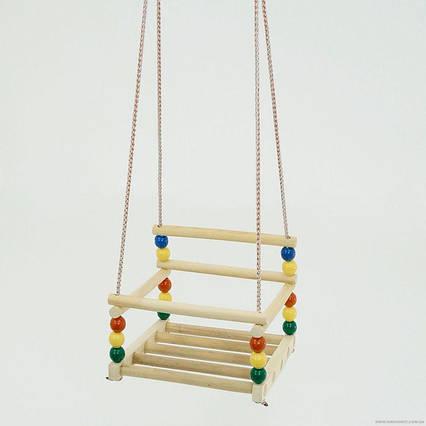 Качели подвесные 113 (10) пластик-дерево бук