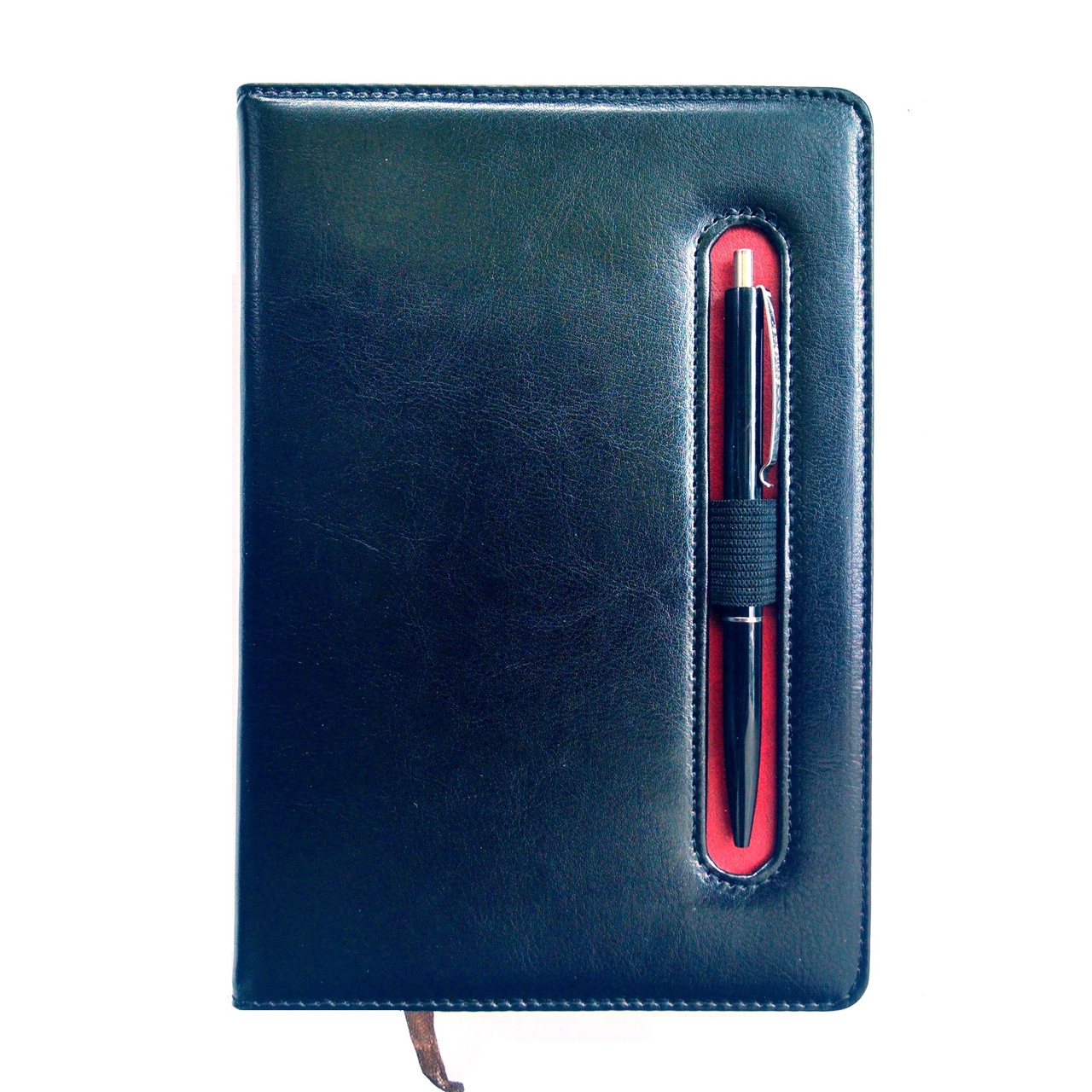 Щоденник недатований з ручкою А5, 150л., клітка №2801, чорний